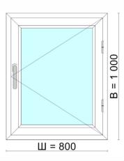 Окно 800х1000